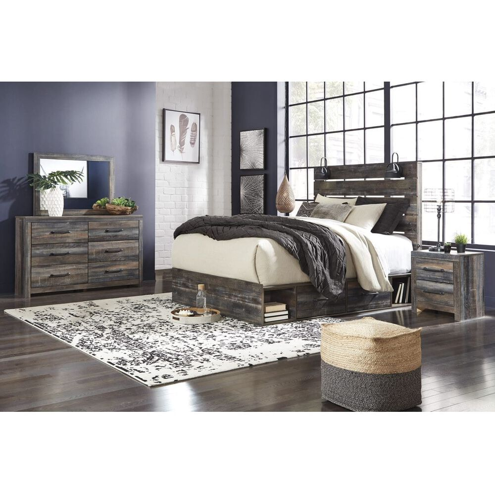 Rent To Own Ashley 11 Piece Drystan Queen Bedroom Collection With