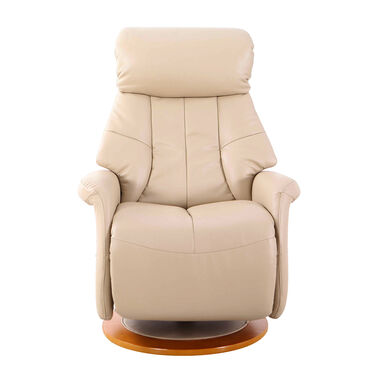 Oscar Leather Recliner - Cobble