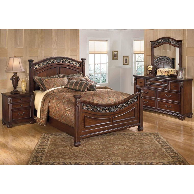 rent to own ashley 6piece leahlyn bedroom set at aaron's