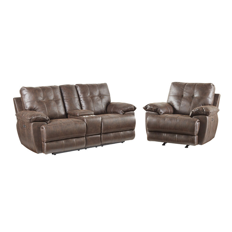 2-Piece Hollister Reclining Lovseat and Recliner