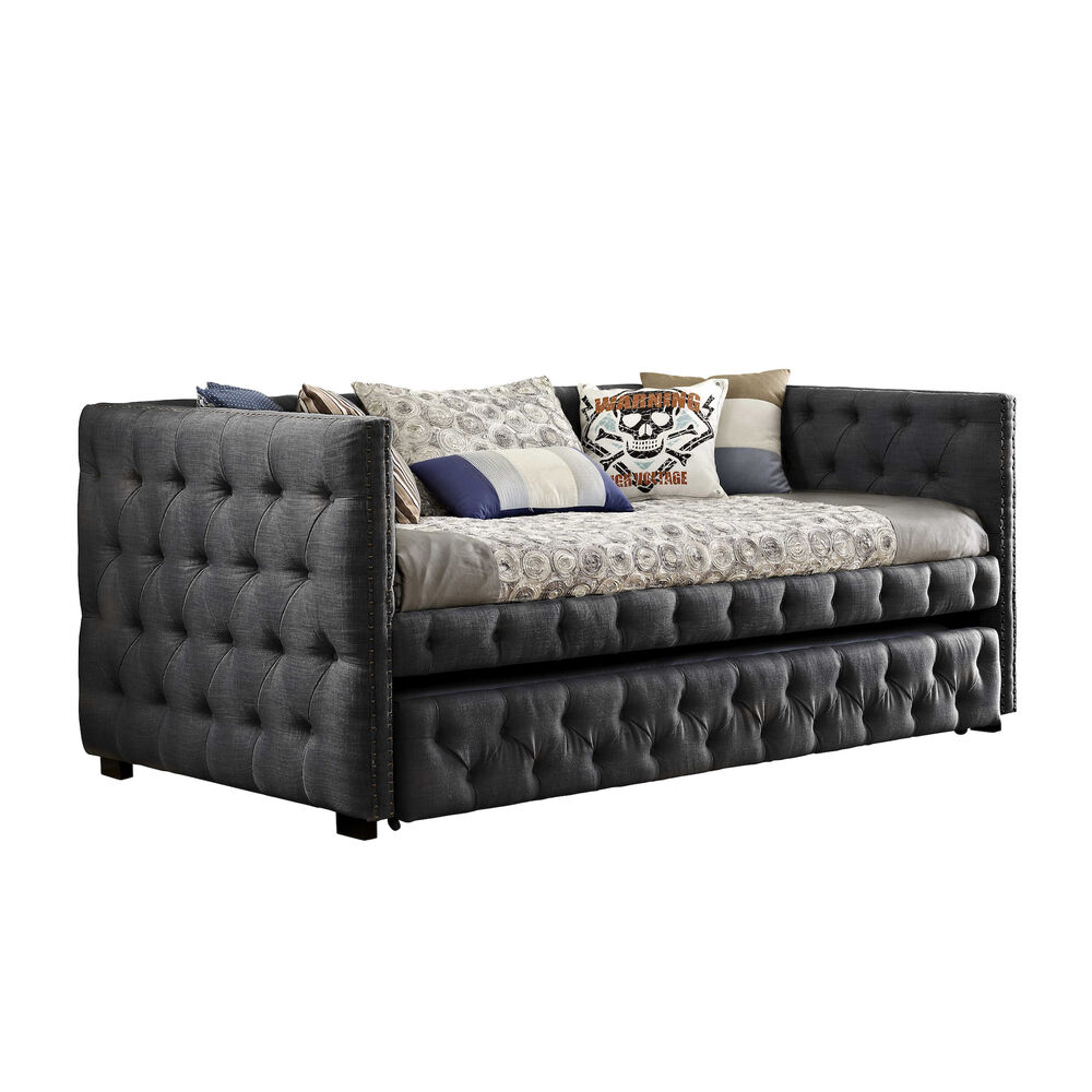 Awe Inspiring Janell Daybed Charcoal Ncnpc Chair Design For Home Ncnpcorg