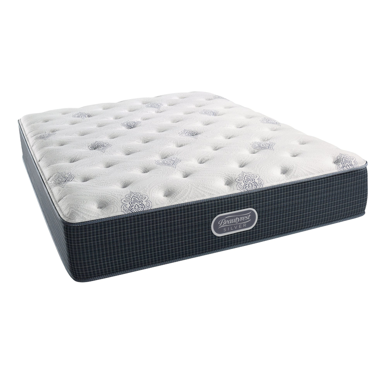 Courtyard Tight Top Plush King Mattress with Woodhaven Foundations and Protectors