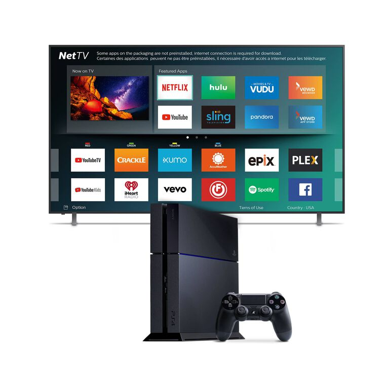 "65"" Class (64.5"" Diag.) Smart 4K UHD TV & 1TB Playstation 4 Bundle"