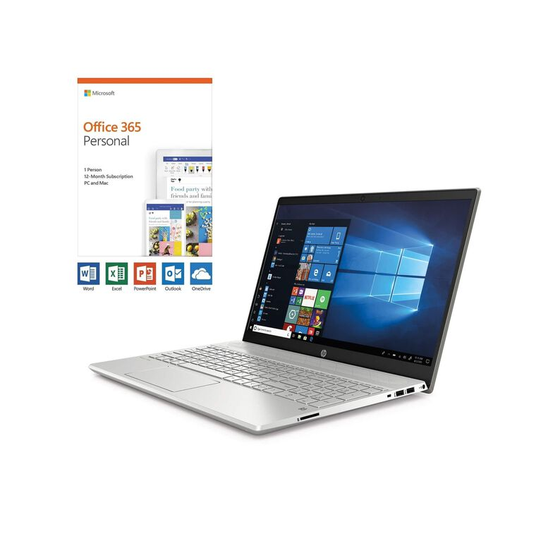"""15"""" Pavilion Laptop with AMD Ryzen™ 5 CPU Plus Microsoft Office 365 Personal and Total Defense Internet Security"""