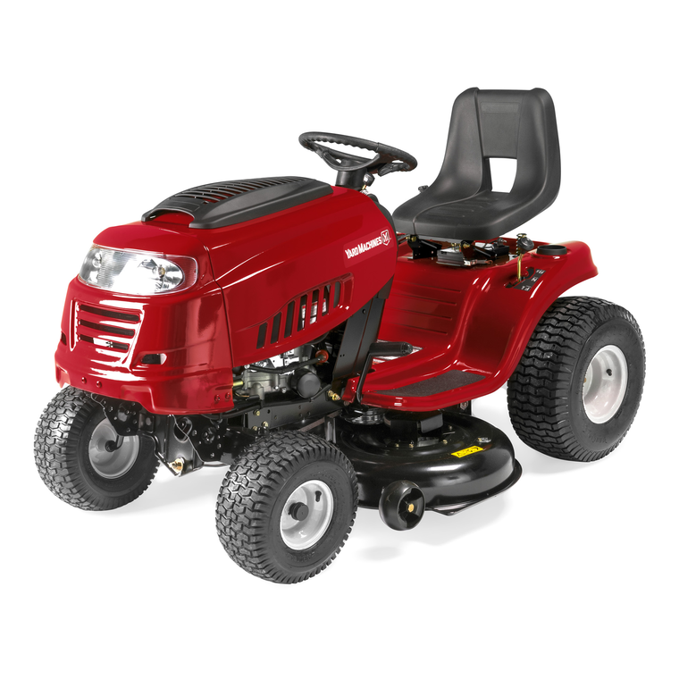 "42"" 420cc Riding Mower With 7-Speed Manual Transmission"