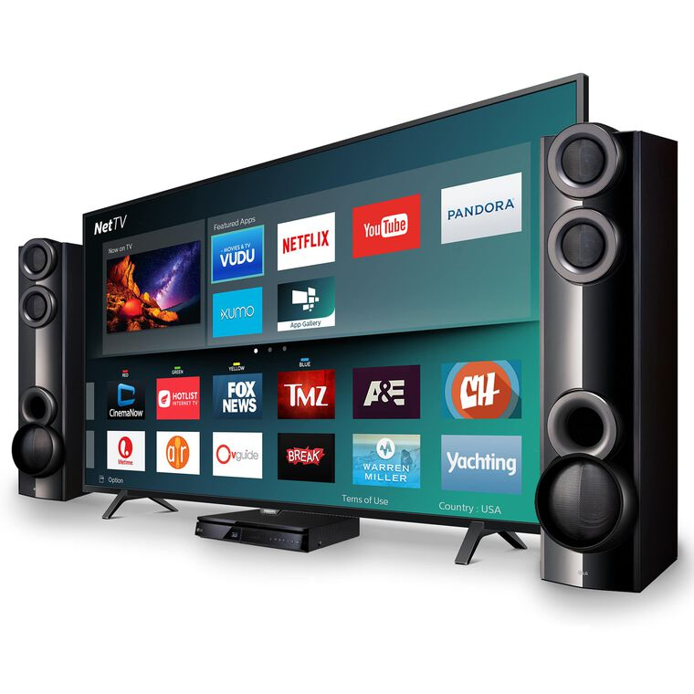 "65"" Class Smart 4K UHD TV & LG 1000W Home Theater System Bundle"