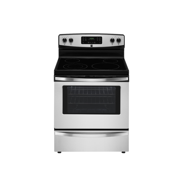 5.3 cu. ft. Electric Self Cleaning Oven with Ceramic Cooktop - Stainless Steel at Aaron's in Lincoln Park, MI | Tuggl