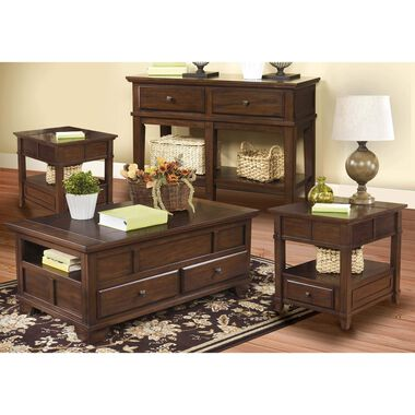 4-Piece Gately Cocktail, 2 End Tables & Sofa Table Set