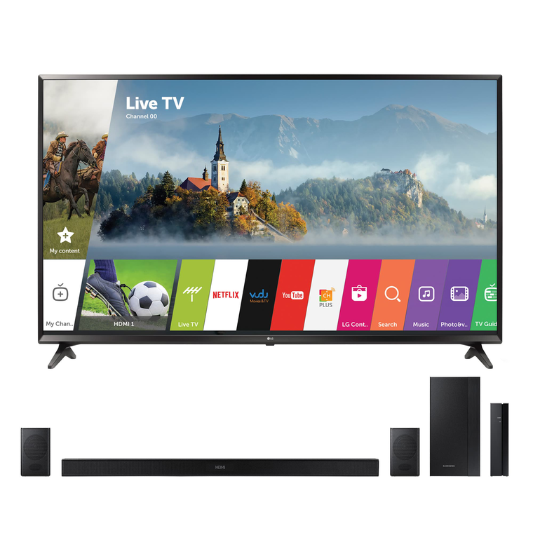 "65"" Class (64.5"" Diag) Smart 4K UHD TV & 200W 4.1Ch Sound Bar Bundle 