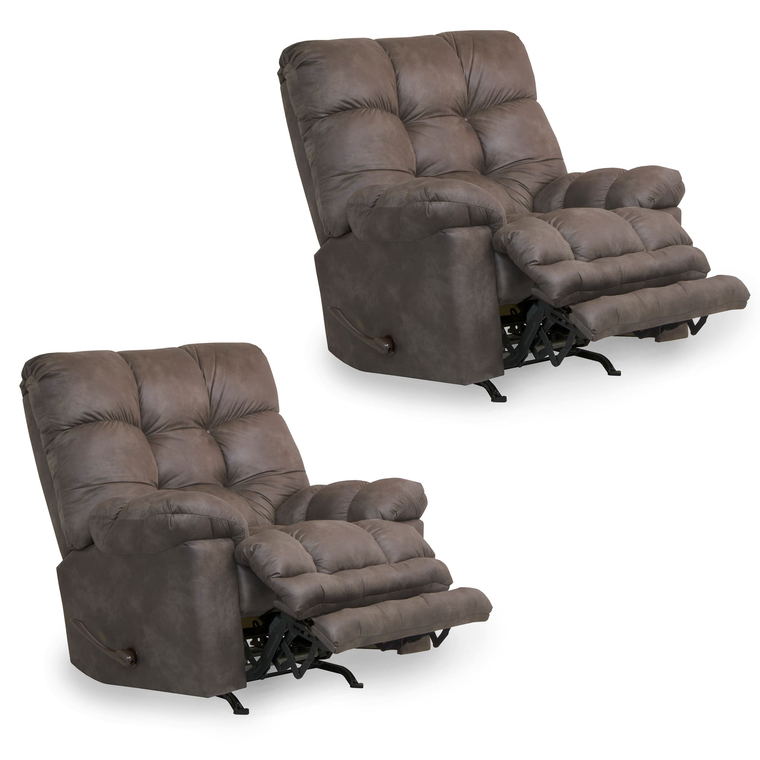 2 Heat & Massage Rocker Recliners Bundle