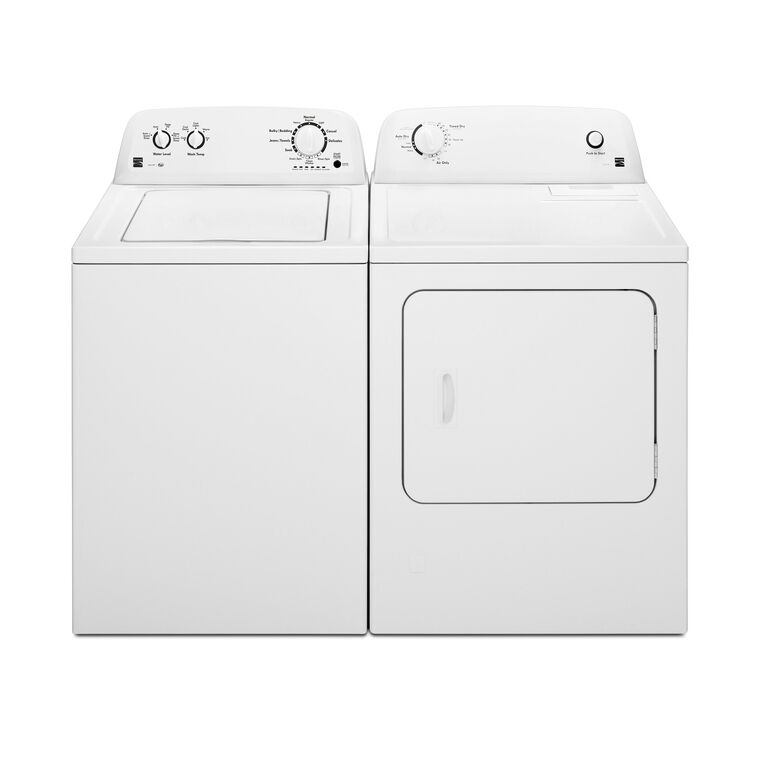 High Efficiency 3.5 cu. ft. Top Load Washer & 6.5 cu. ft. Electric Dryer