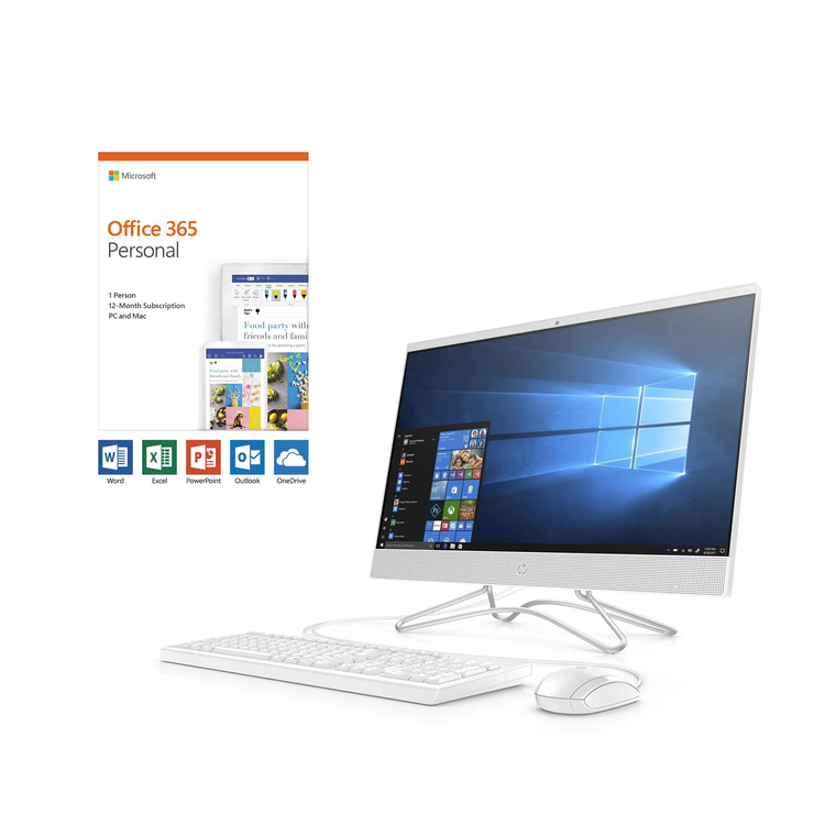"24"" All-in-One Desktop with Microsoft Office 365 Personal and Total Defense Internet Security"