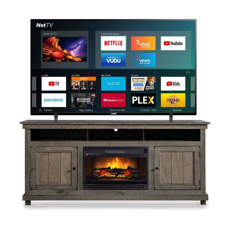"75"" Class Smart 4K UHD TV & 72"" Fireplace TV Console Bundle"