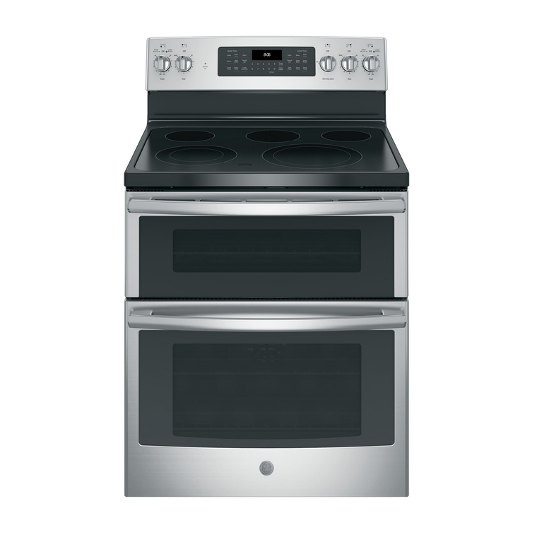 "30"" Electric Double Oven Convection Range with Ceramic Cooktop - Stainless"