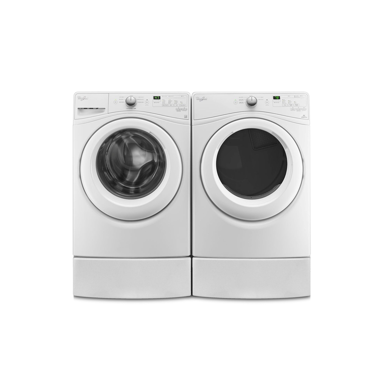 4.5 cu. ft. Washer & 7.4 cu. ft. High Efficiency Electric Dryer with Pedestals | Tuggl