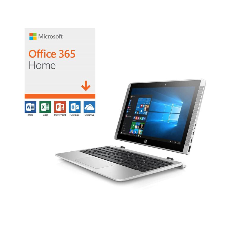 "10"" 2-in-1 Detachable Laptop with Microsoft Office 365 and Total Defense Internet Security"