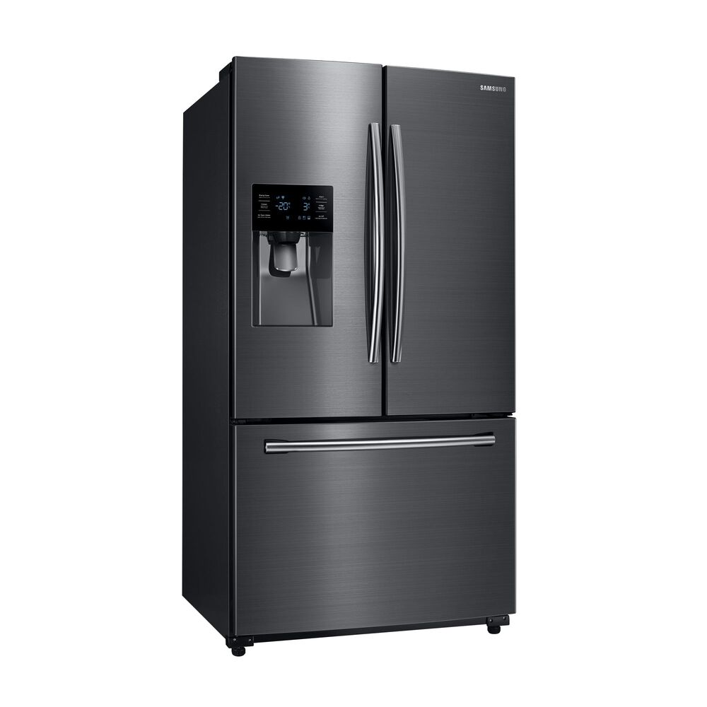 samsung refrigerators samsung 25 cu ft french door refrigerator with ice and water black. Black Bedroom Furniture Sets. Home Design Ideas