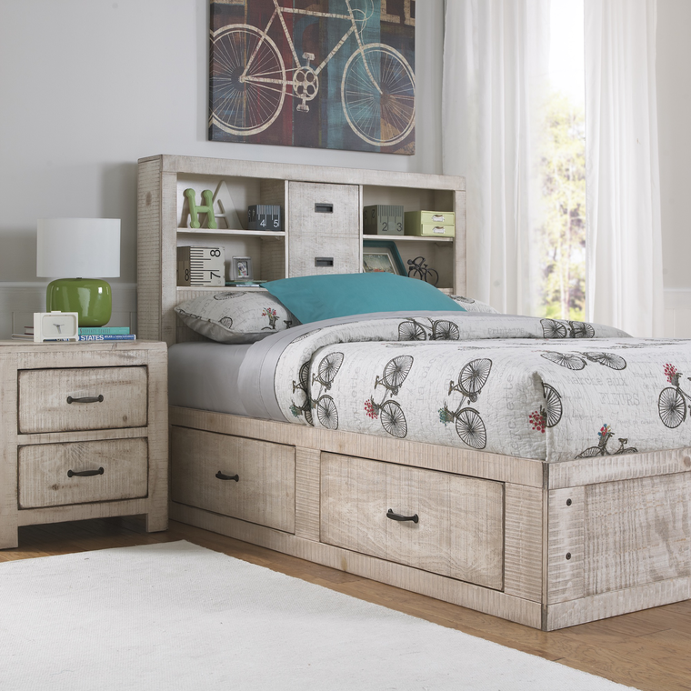 Oak Furniture West Bedroom Groups 6 Piece Captain 39 S Youth Full Size Bedroom Collection
