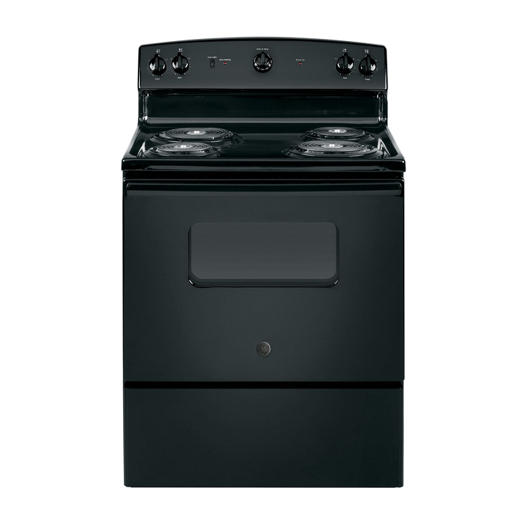 5.0 cu. ft. Electric Range with Coil Cooktop - Black