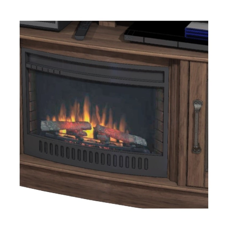 """60"""" Fireplace TV Console with 23"""" Firebox"""
