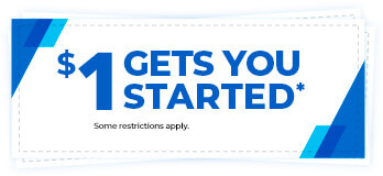 $1 gets you started* some restrictions apply