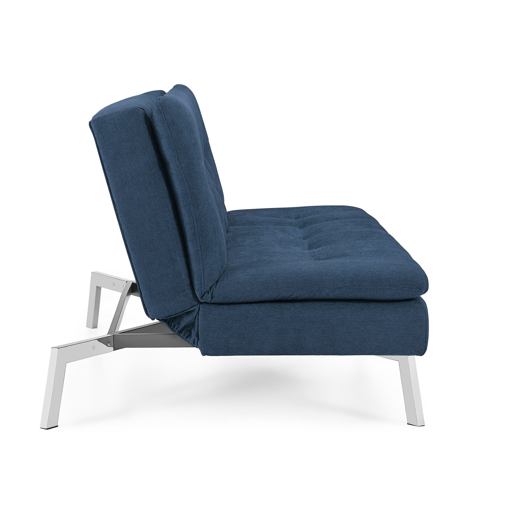 Chicago Cozy Navy Convertible Sofa with Chaise