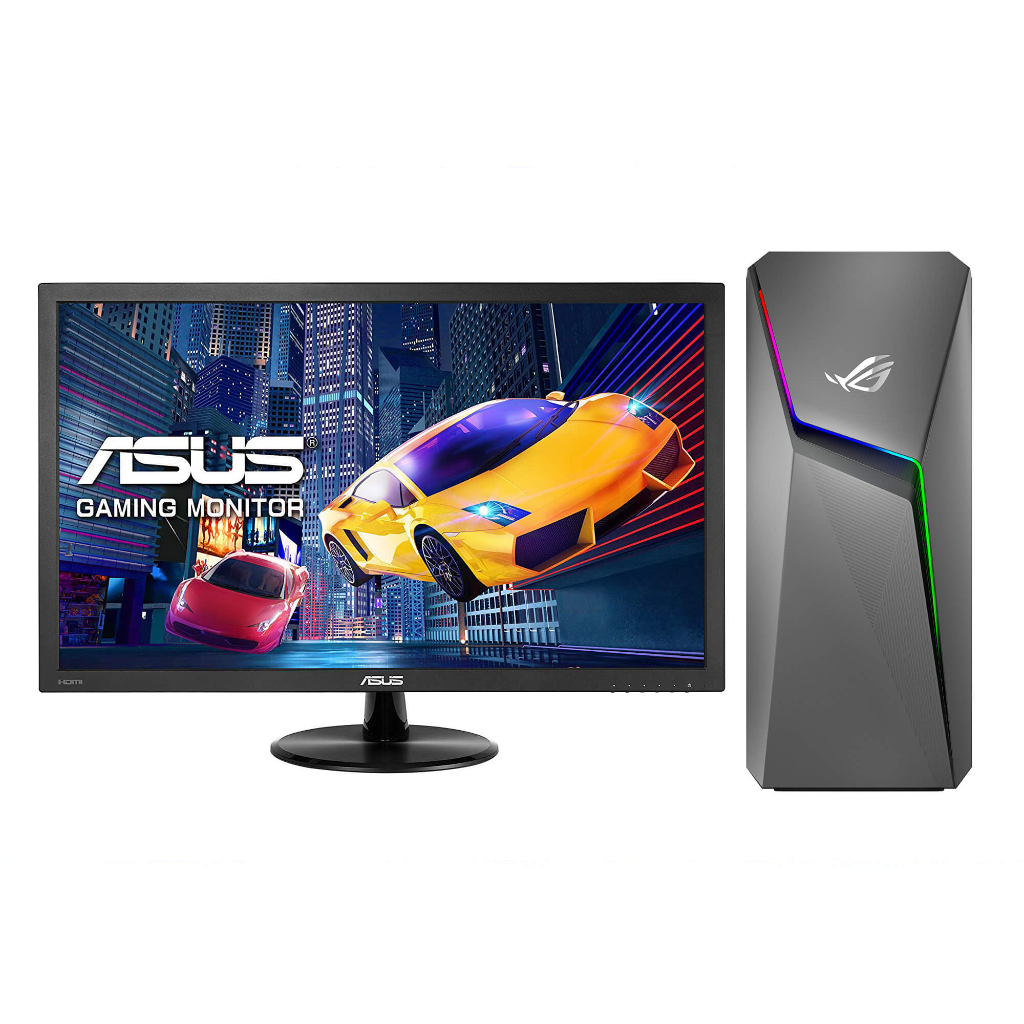 """ROG Strix GL10 Gaming Desktop with 22"""" Gaming Monitor and Total Defense Internet Security"""