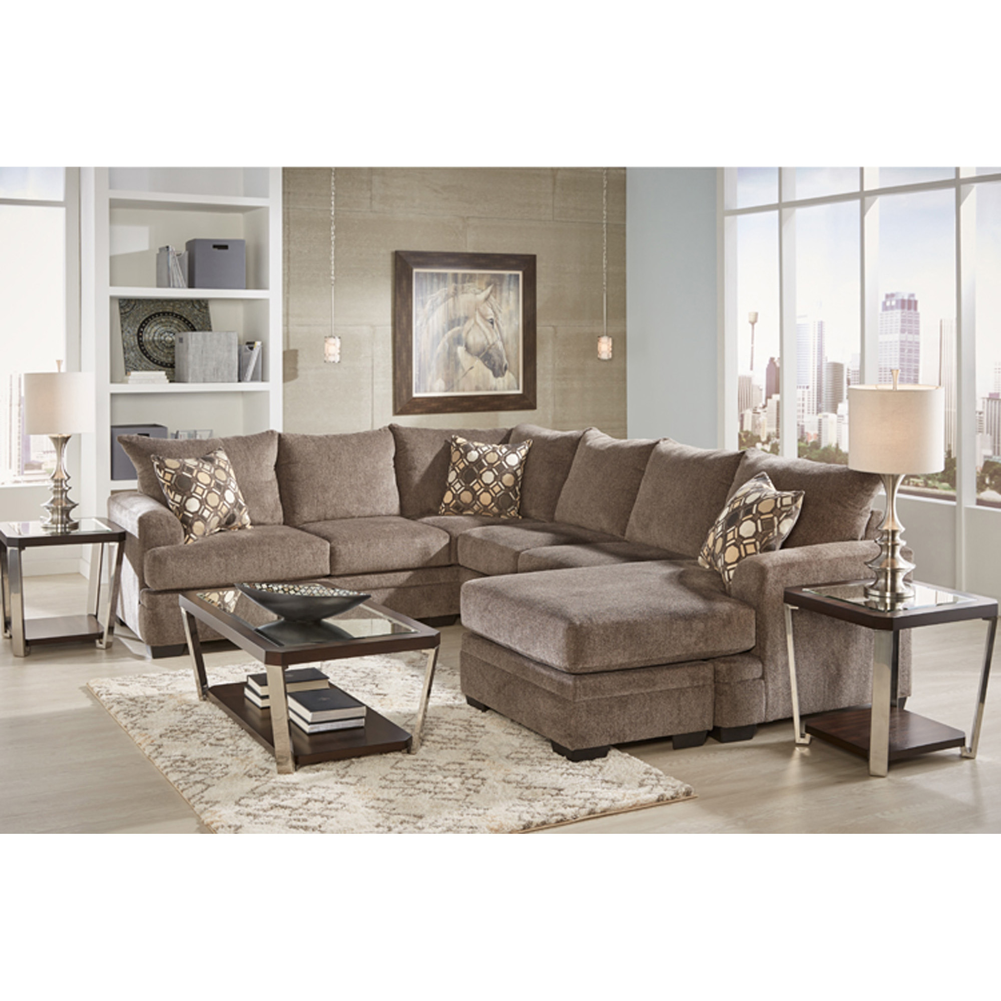 Rent To Own Woodhaven 2 Piece Kimberly Sectional Living Room Collection At Aaron S Today