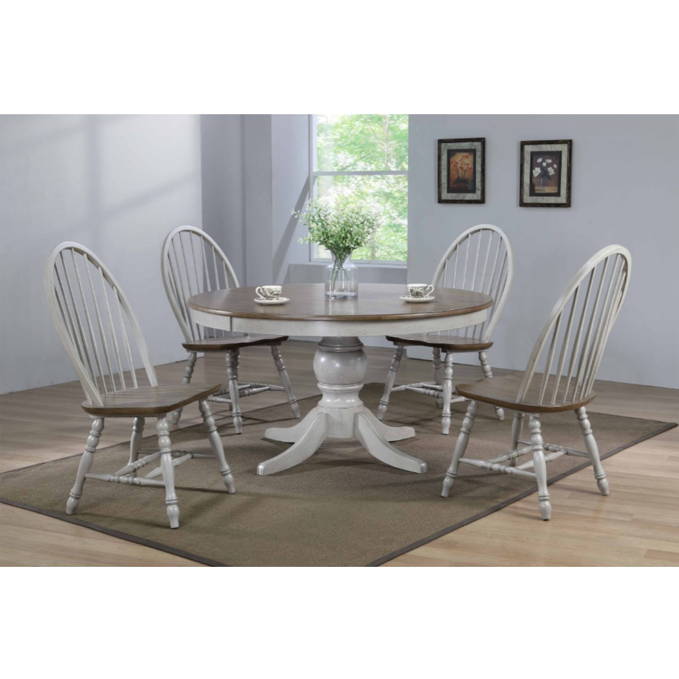 5-Piece Jack Dining Set with 4 Spindle Back Chairs