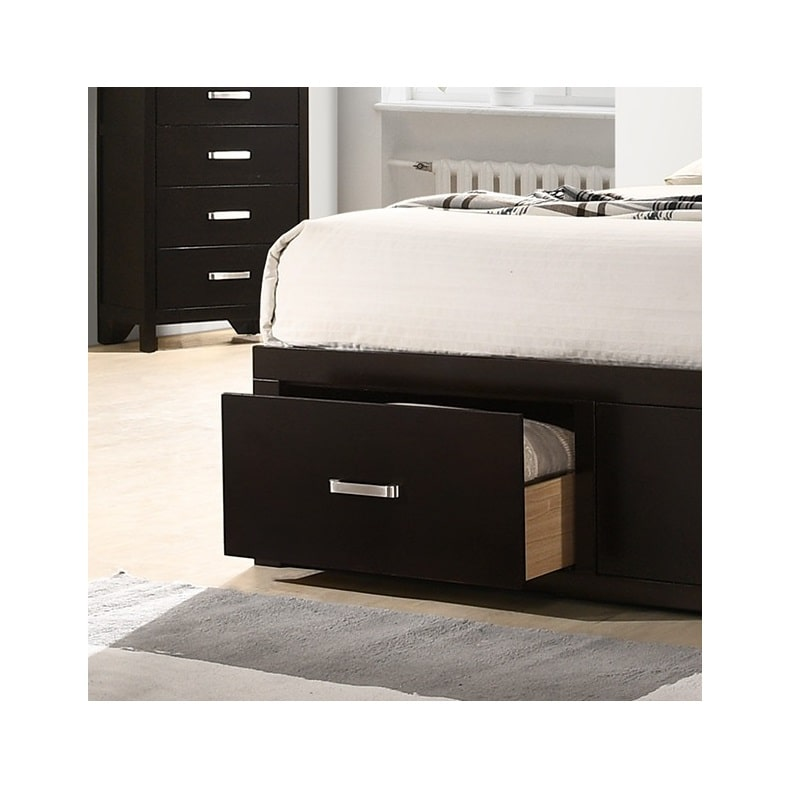 """43"""" Class 4K TV and Dalton Queen Platform Storage Bedroom with Tight Top Mattress"""