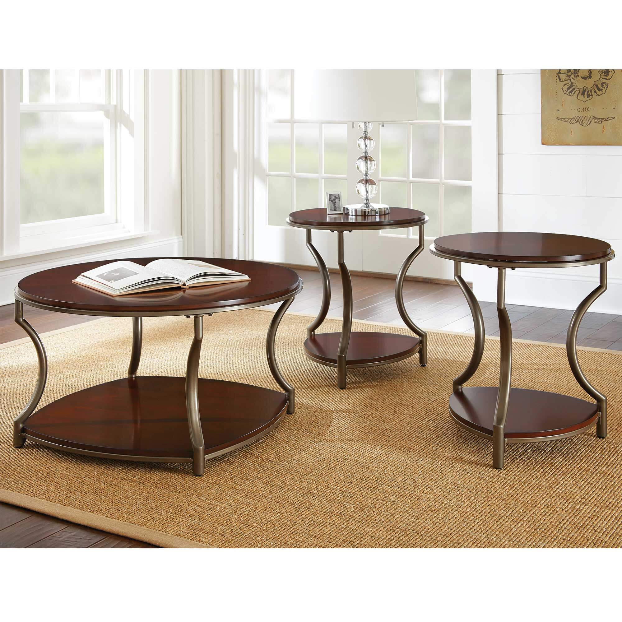 3-Piece Miles Cocktail & End Tables Bundle