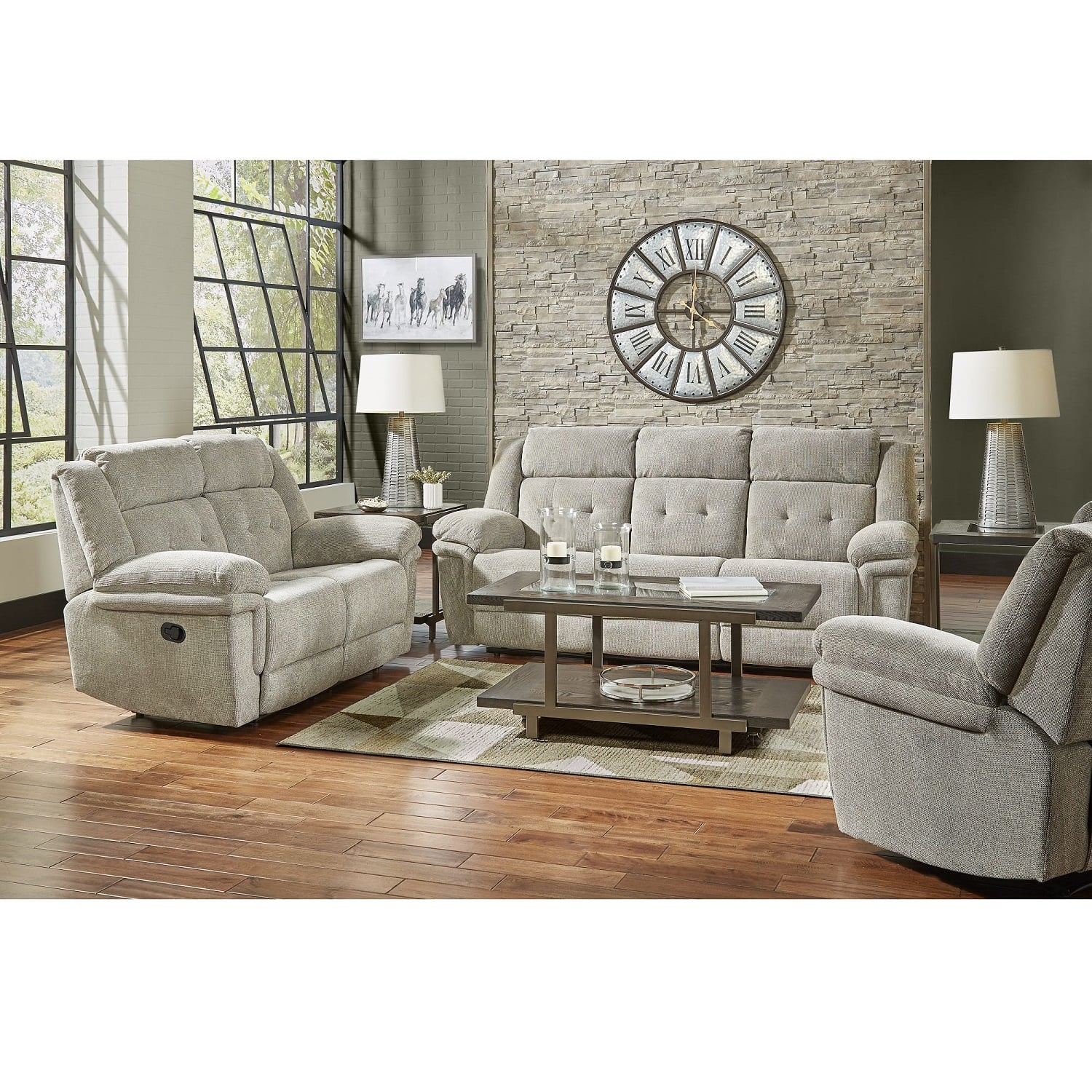 3 Piece Silas Reclining Living Room Collection
