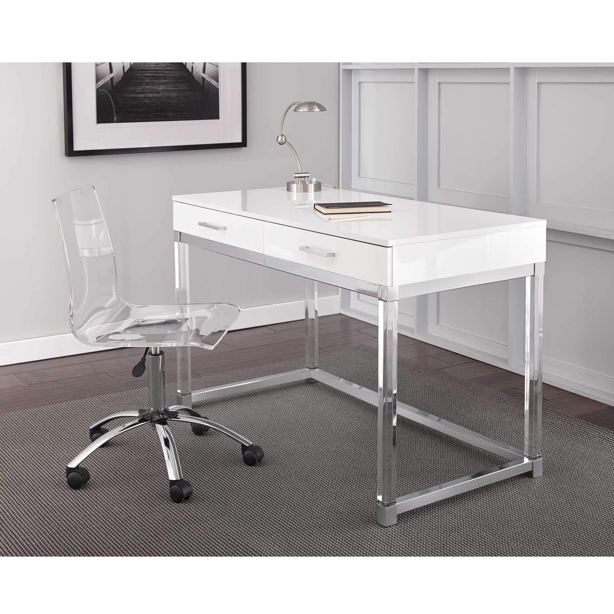 Image of: Rent To Own Steve Silver 2 Piece Everett Desk And Swivel Chair Set At Aaron S Today