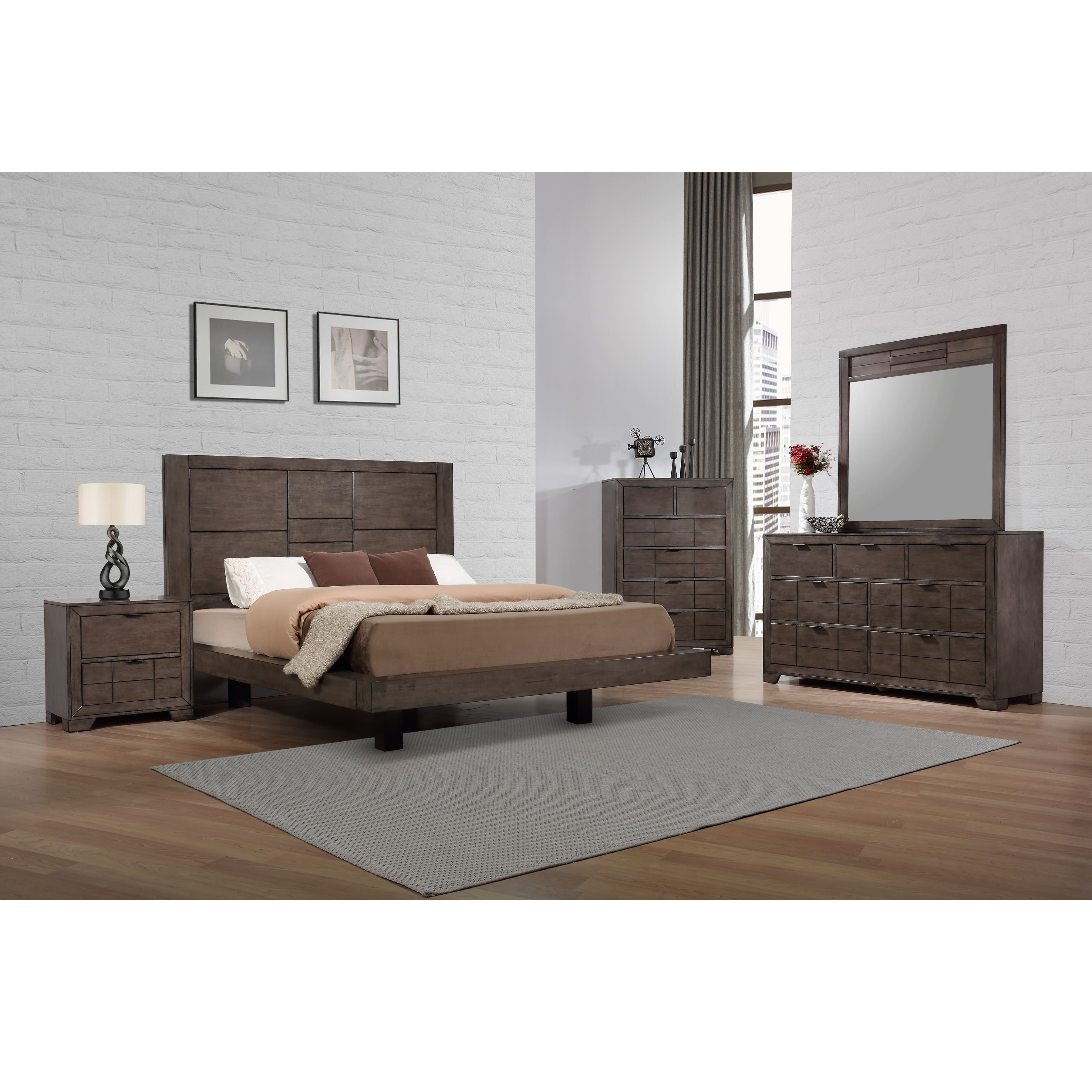 Rent To Own Elements International 7 Piece Logic King Bedroom