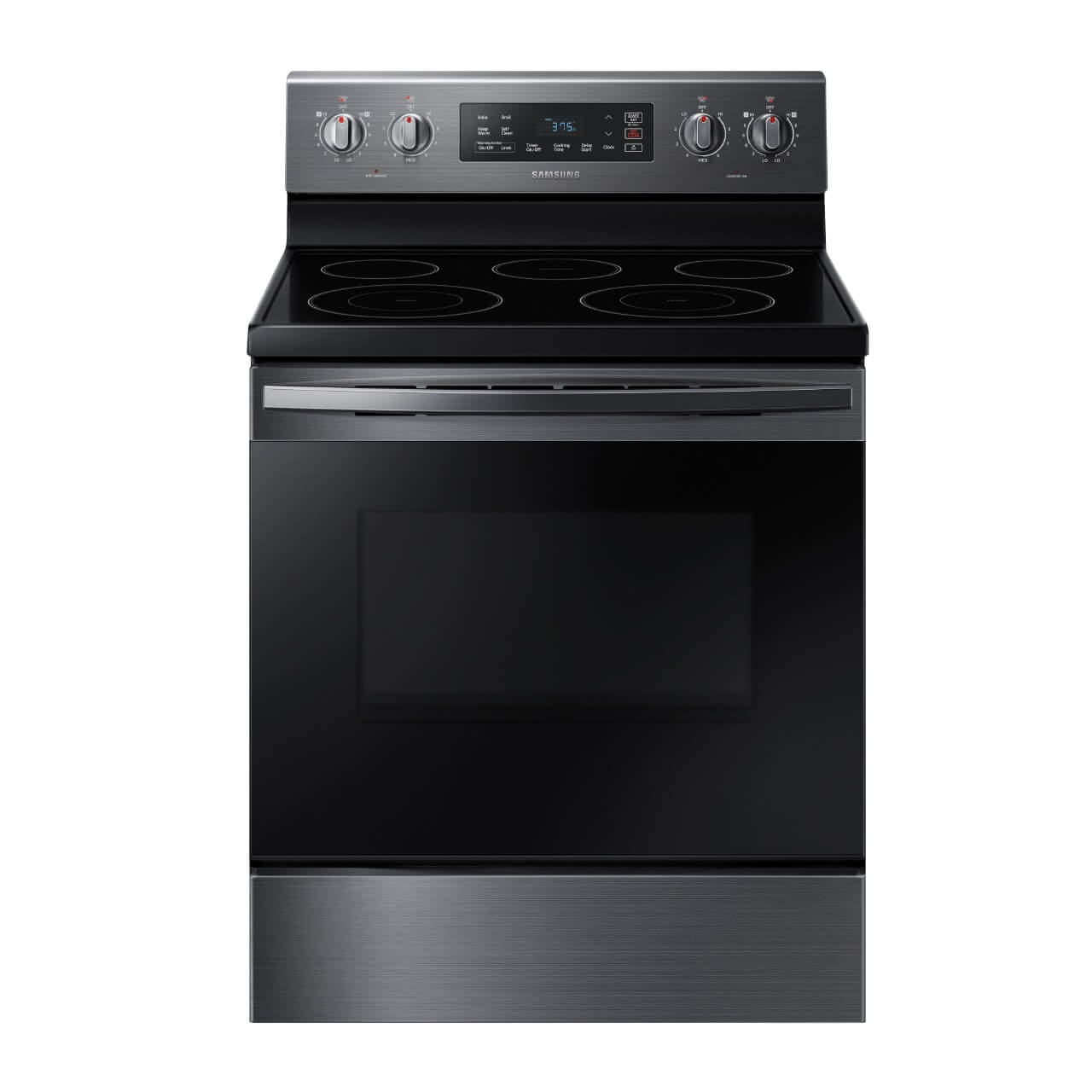 5.9 cu. ft. Self Cleaning Electric Range with Ceramic Cook Top - Black Stainless