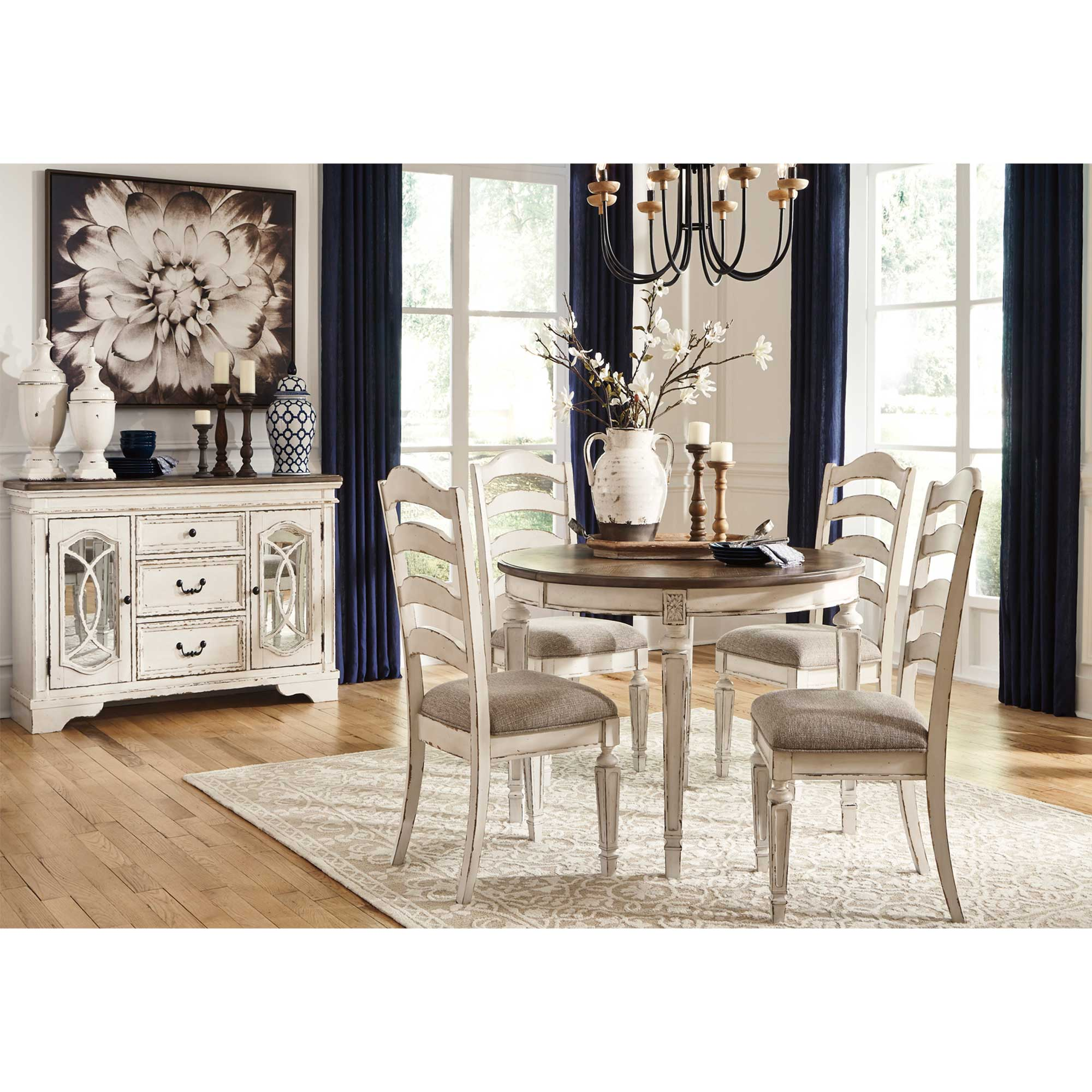 Rent To Own Ashley 6 Piece Realyn Dining Room Collection With Server Buffet At Aaron S Today