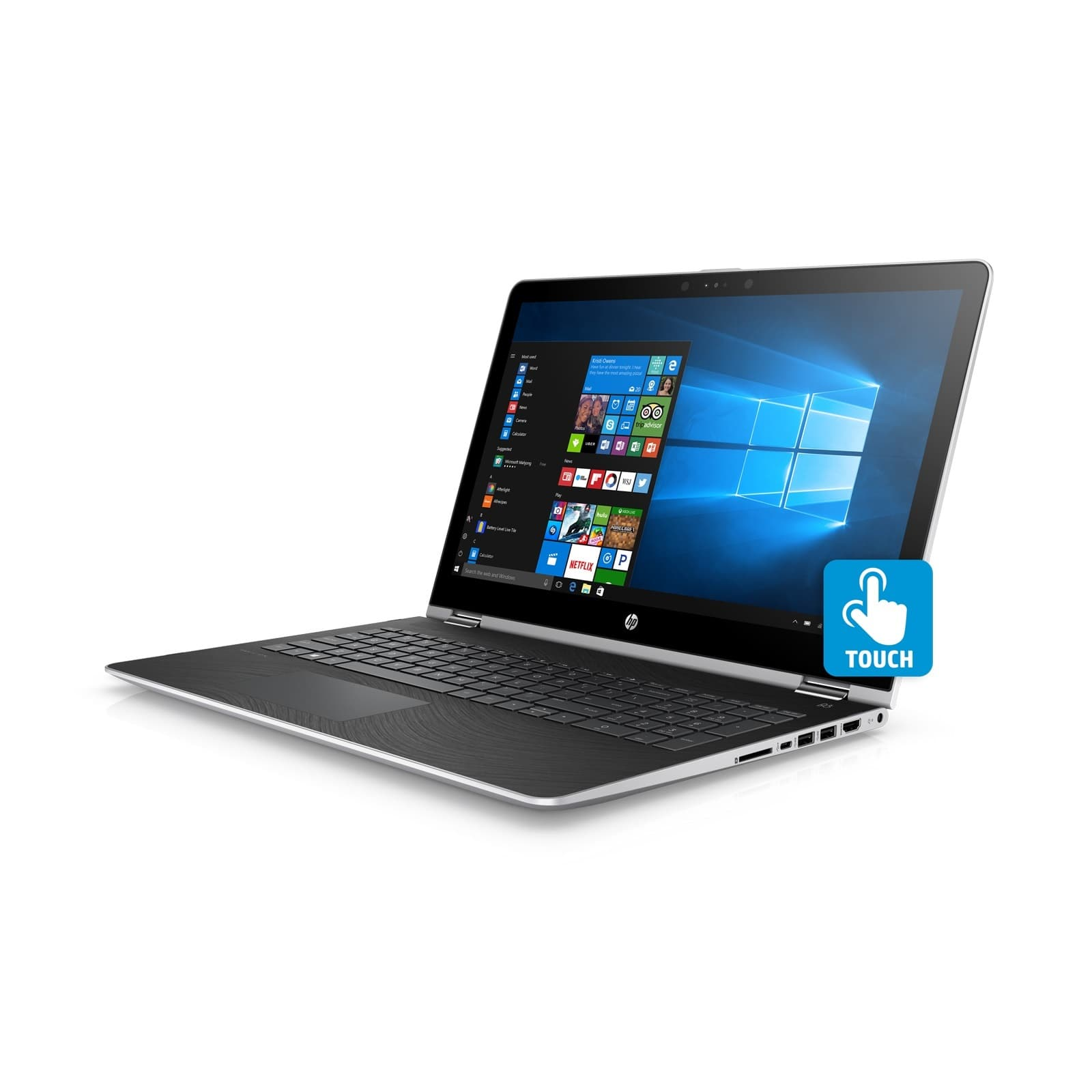 """15.6"""" x360 Convertible Laptop with Microsoft Office 365 Personal and Total Defense Internet Security"""