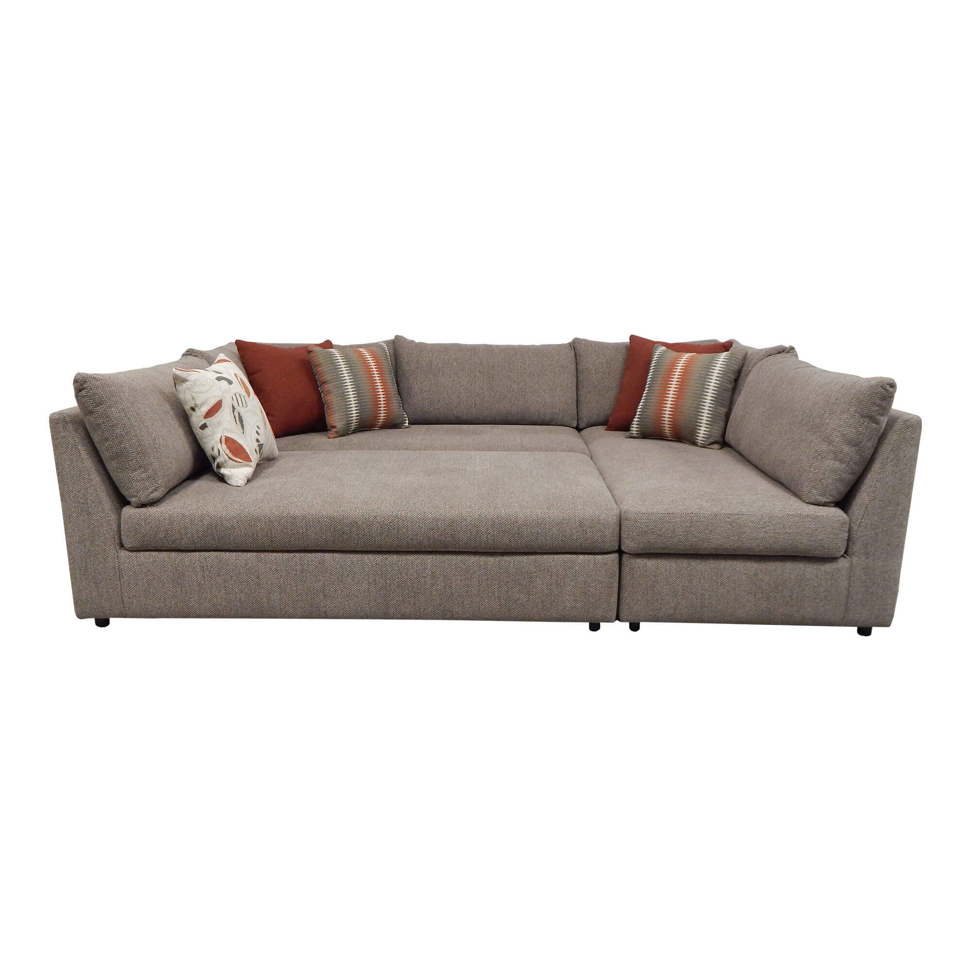 Picture of: Rent To Own Woodhaven 3 Piece Puzzle Chaise Sectional Sofa At Aaron S Today