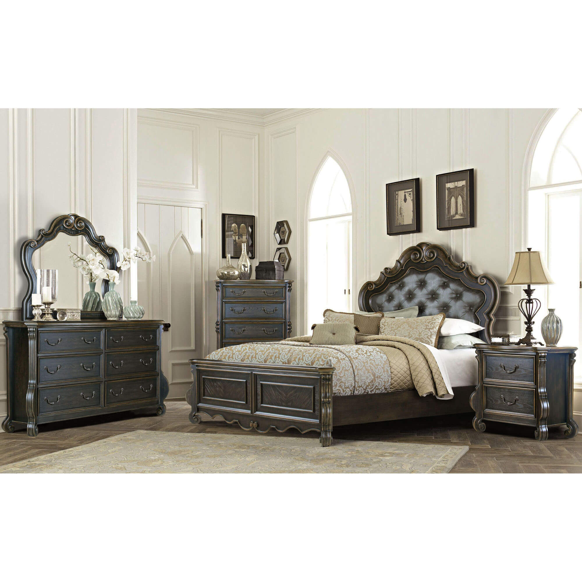 Rent To Own Riversedge Furniture 7 Piece Charlotte King Bedroom