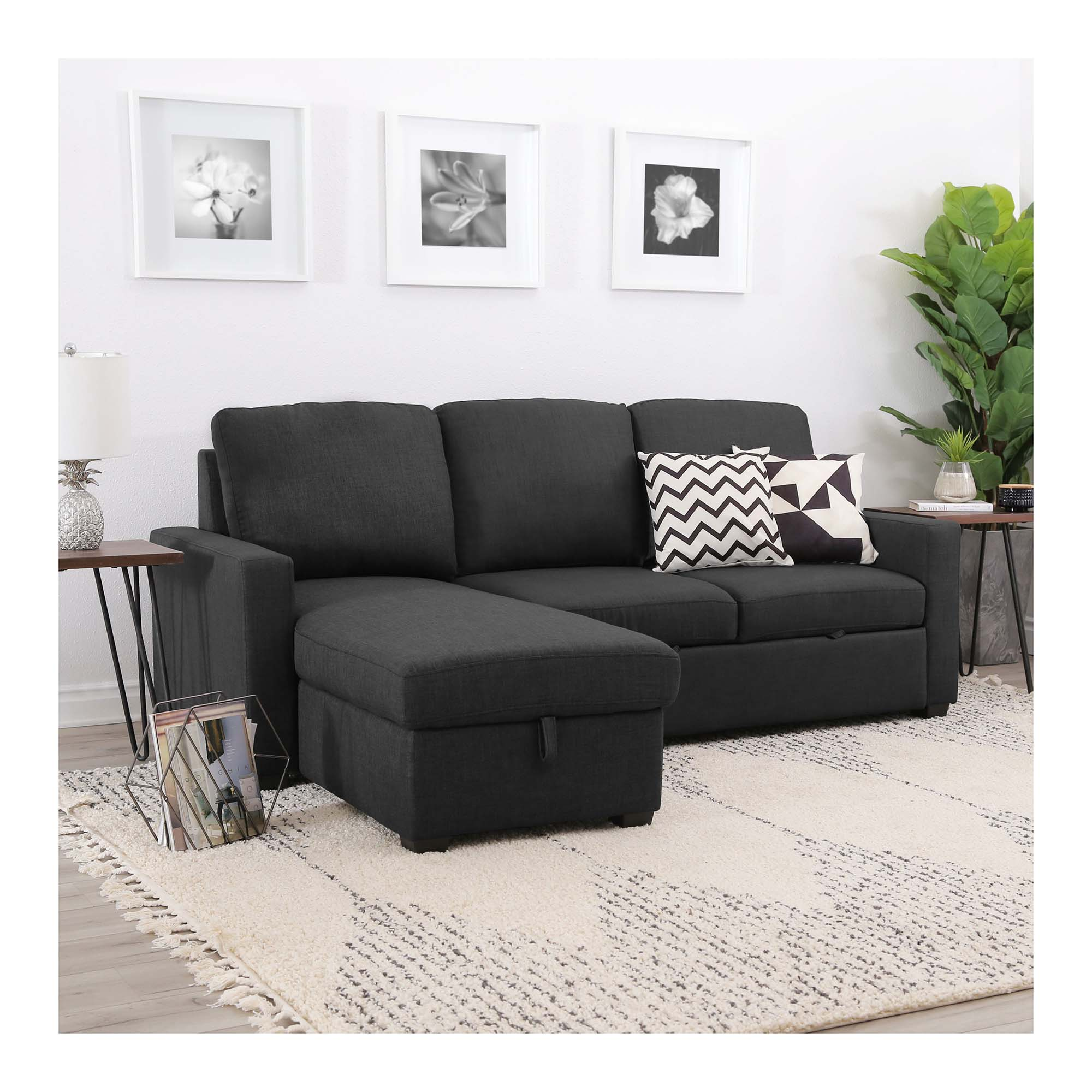 Rent To Own Abbyson Living 2 Piece Newton Grey Chaise Sofa At Aaron S Today