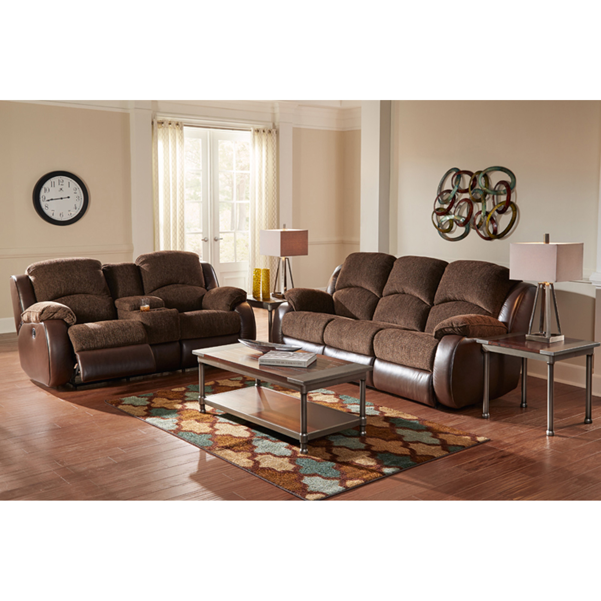 Rent To Own Woodhaven 7 Piece Memphis Reclining Living Room Collection At Aaron S Today