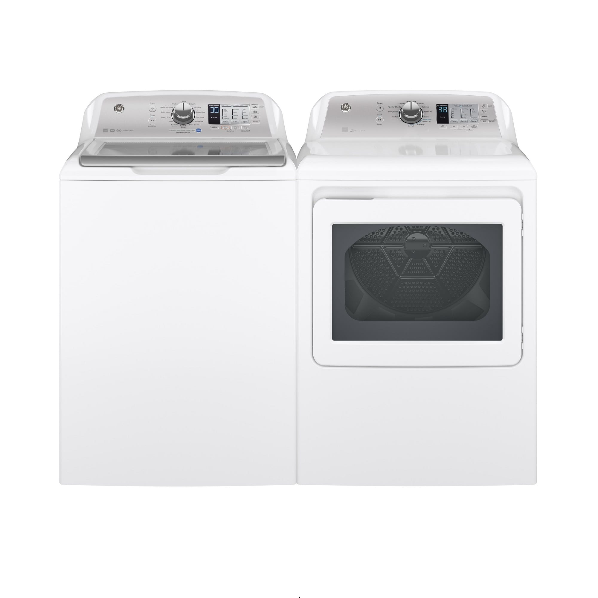 4 5 cu  ft  HE Top Load Washer & 7 4 cu  ft  Electric Dryer
