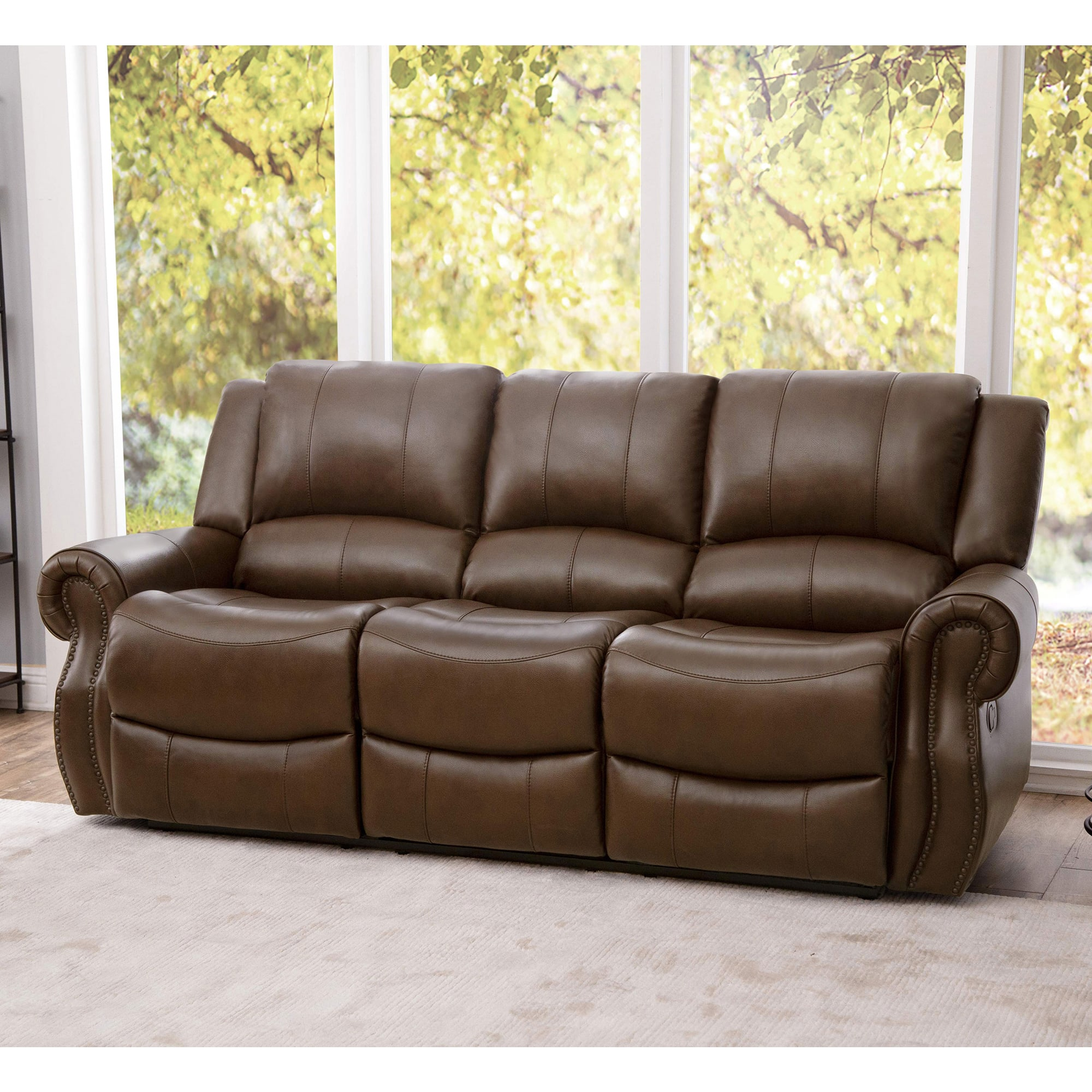 Picture of: Rent To Own Abbyson Living Calabasas Faux Leather Sofa At Aaron S Today