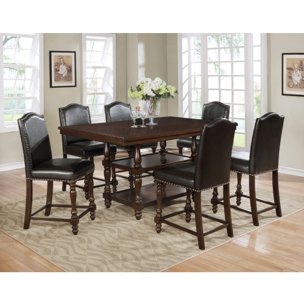 7-Piece Langley Dining Set with 6 Chairs