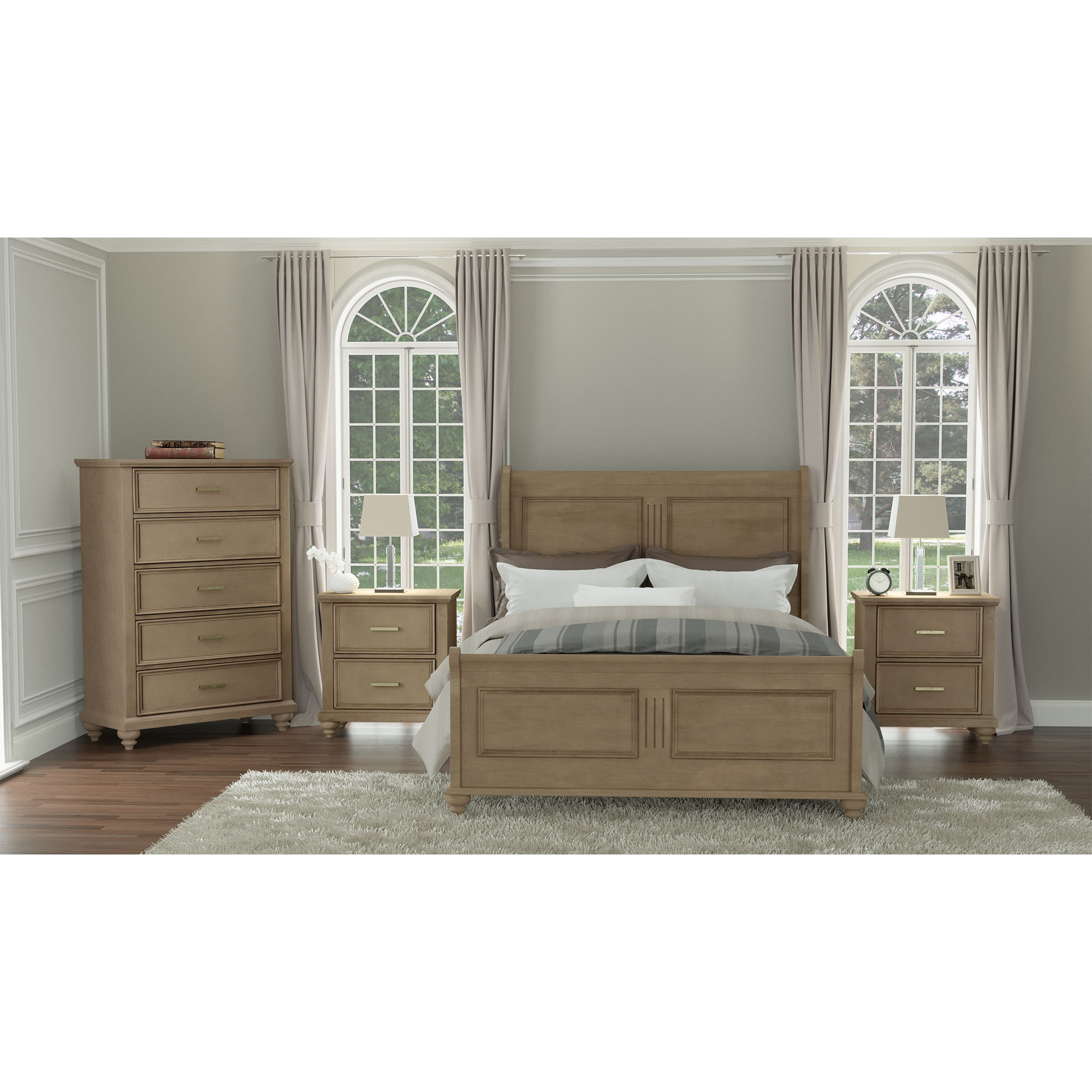 rent to own abbyson living 6piece cameron king bed with