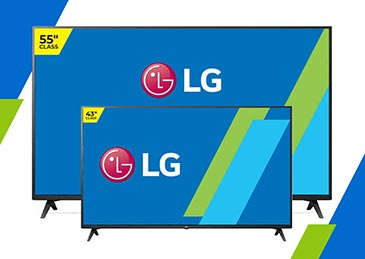 "LG 55"" & LG 43"" 2 TV Bundle"
