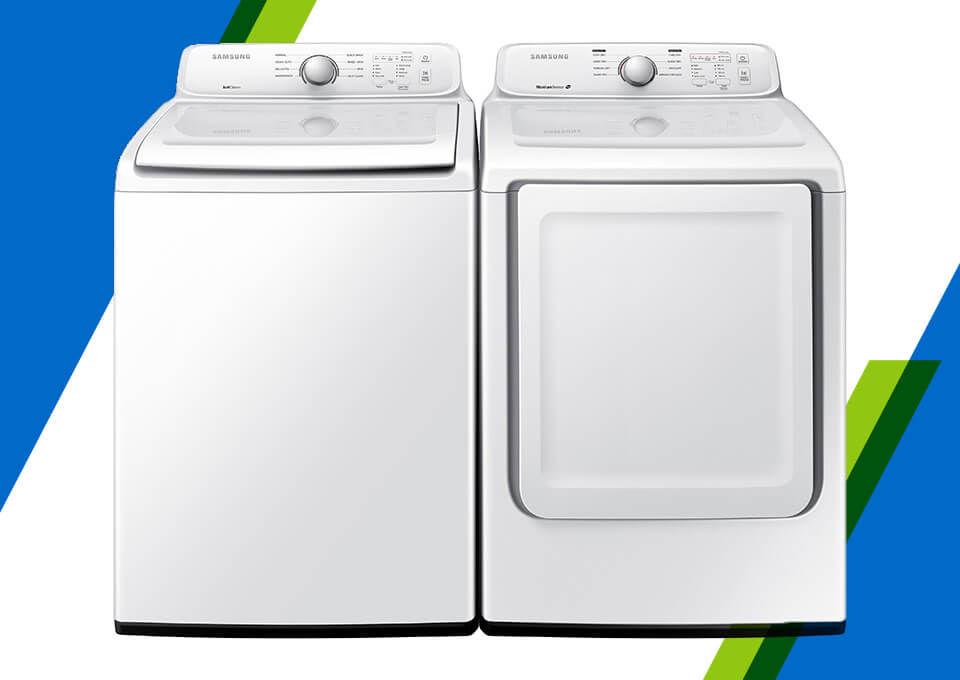 Samsung Top Load Electric Laundry Pair