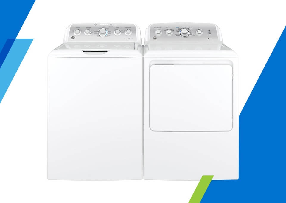 GE Top Load Washer & Electric Dryer Pair