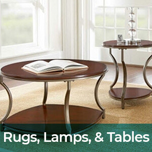 Rugs, Lamps, & Tables