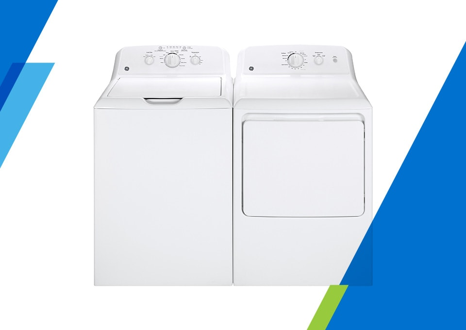 GE Top Load Washer and Electric Dryer